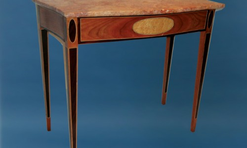 Serpentine Table With Marble Top